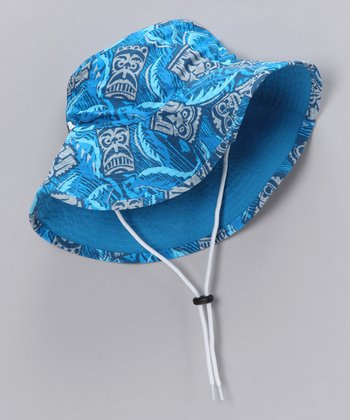 Cobalt Tiki Bucket Hat