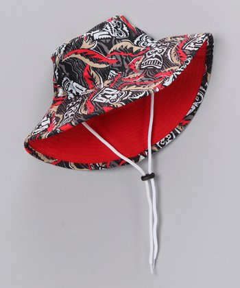 Flame Tiki Bucket Hat