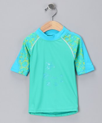 Green Offshore Rashguard - Infant & Girls