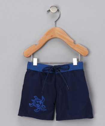 Blue & Aqua Boardshorts - Boys
