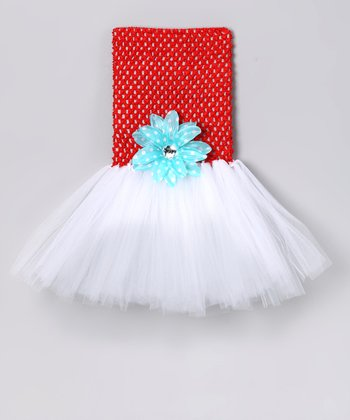 Red Wonderland Princess Tutu Dress & Clip - Infant