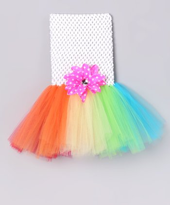 Rainbow Tutu Dress & Clip - Infant