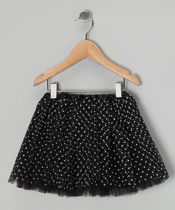 Black & White Polka Dot Tutu - Toddler & Girls