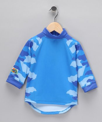 Blue Spike Rashguard - Toddler & Boys