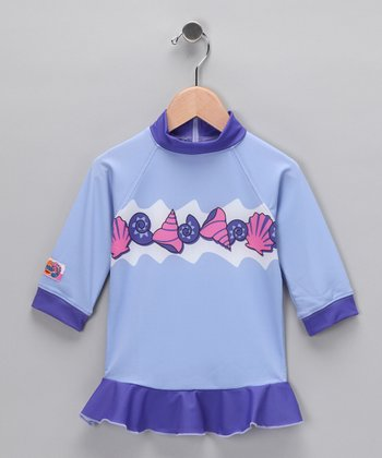 Purple Shell Rashguard - Toddler & Girls