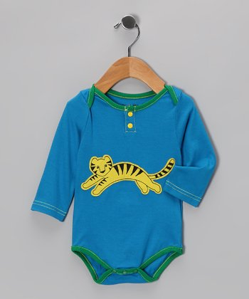 Blue Tiger Mini Monsoon Bodysuit - Infant