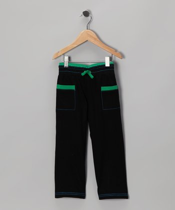 Black & Green Pants - Infant & Toddler