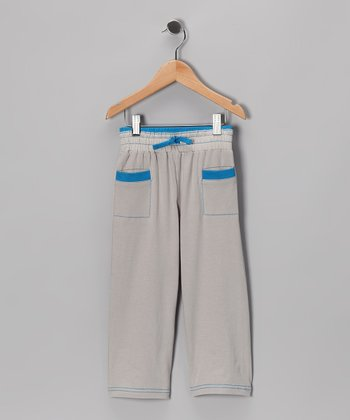 Gray & Blue Pants - Infant & Toddler