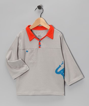 Gray & Orange Tee - Infant & Toddler