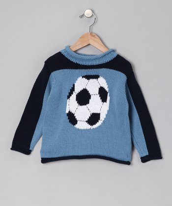 Blue Soccer Sweater - Boys