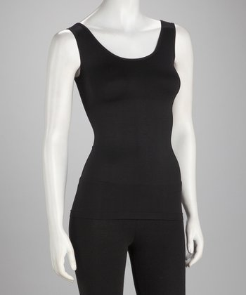 Black Seamless Shaper Tank - Women
