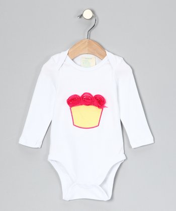 White Cupcake Organic Bodysuit - Infant