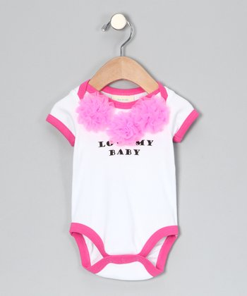 White 'Love My Baby' Organic Bodysuit - Infant