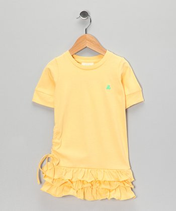 Yellow Organic Drop-Waist Dress - Toddler