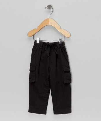 Black Organic Cargo Pants - Infant