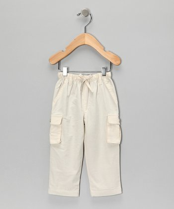 Cream Organic Cargo Pants - Infant