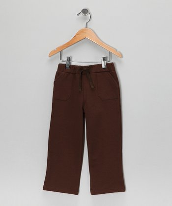 Brown Organic Fleece Pocket Pants - Toddler