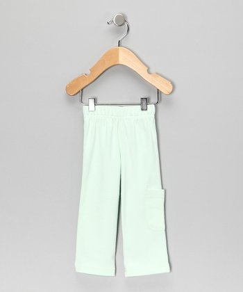 Light Green Organic Pants - Infant