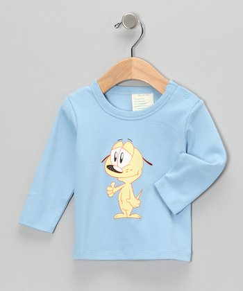 Light Blue Pup Organic Tee - Infant
