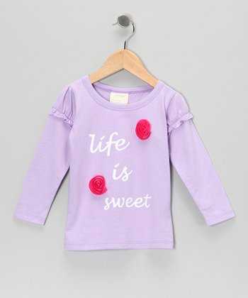 Lavender 'Life is Sweet' Organic Tee - Toddler