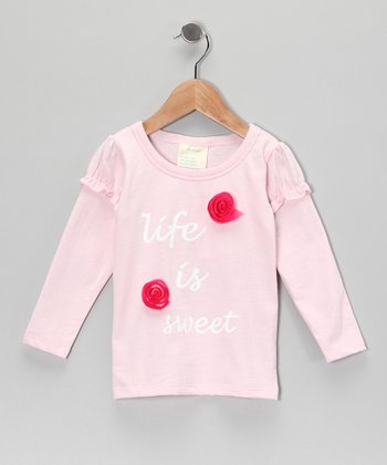 Light Pink 'Life is Sweet' Organic Tee - Toddler