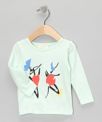 Light Green Art Organic Tee - Infant & Toddler