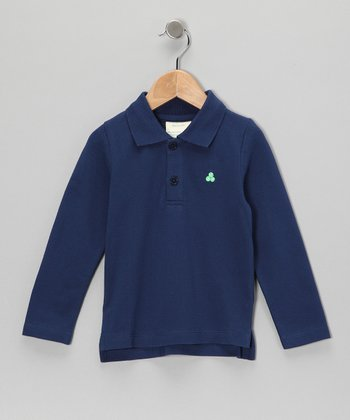 Dark Blue Organic Polo - Toddler