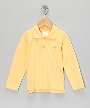 Yellow Organic Polo - Toddler