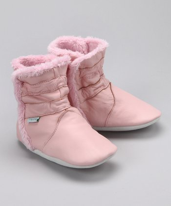 Pink Leather Boot