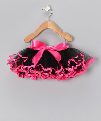 Black & Hot Pink Pettiskirt - Toddler & Girls