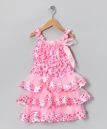 Pink Heart Ruffle Dress - Infant & Toddler