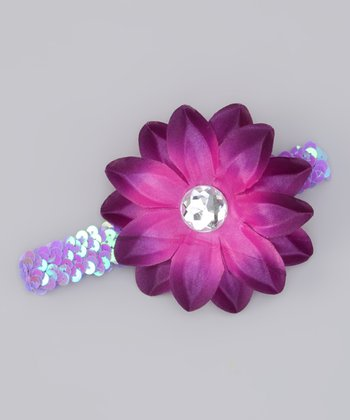 Purple Sequin Lily Headband