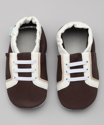 Brown & White Sneaker Leather Booties