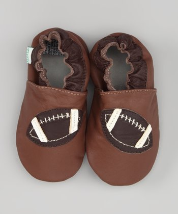 Brown Football Leather Booties