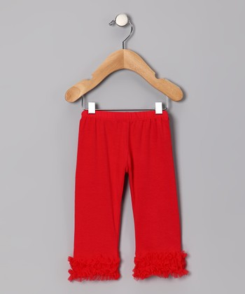 Red Ruffle Capri Pants - Infant & Toddler