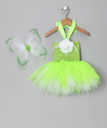Lime Green Fairy Dress & Wings - Infant