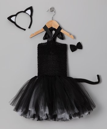 Black Cat Tutu Dress-Up Set - Infant
