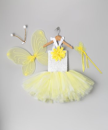 Yellow Butterfly Tutu Dress-Up Set - Toddler & Girls