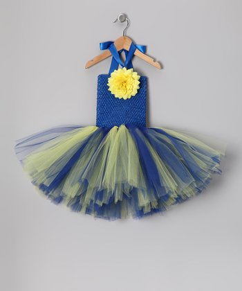 Blue & Yellow Chargers Tutu Dress - Toddler & Girls