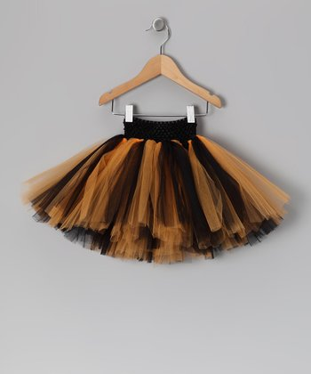 Black & Orange Halloween Tutu - Infant, Toddler & Girls