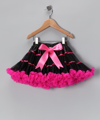 Black & Hot Pink Stripe Pettiskirt - Toddler & Girls