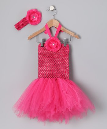 Hot Pink Tutu Dress & Headband - Infant & Toddler