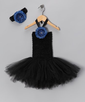 Black Tutu Dress & Headband - Infant & Toddler