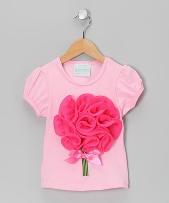 Pink Flower Bouquet Tee - Infant, Toddler & Girls