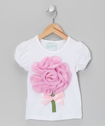 White Flower Bouquet Tee - Infant, Toddler & Girls