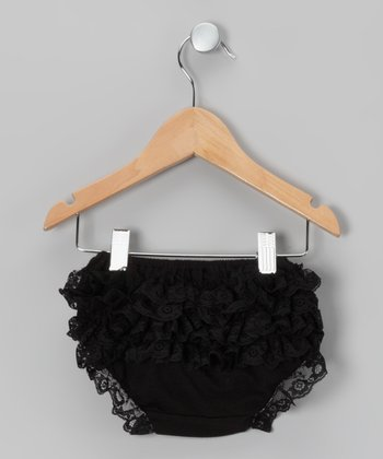 Black Lace Ruffle Diaper Cover & Toddler - Infant & Toddler