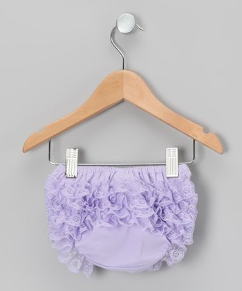Lavender Lace Ruffle Diaper Cover - Infant & Toddler