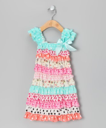 Pink Ruffle Cap-Sleeve Dress - Infant, Toddler & Girls