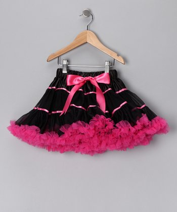 Black & Hot Pink Stripe Pettiskirt - Infant, Toddler & Girls