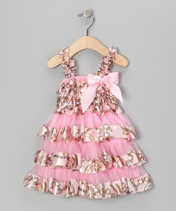 Light Pink Victoria Chain Ruffle Dress - Infant, Toddler & Girls